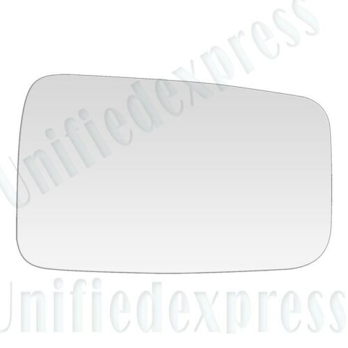 REPLACEMENT-MIRROR-GLASS+ADHESIVE~87-93 JEEP WRANGLER MANUAL LEFT DRIVER SIDE