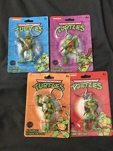 Teenage Mutant Ninja Turtles Keychains LOT of 4 TMNT Nickelodeon NEW