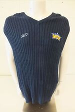 Reebok Golf Dark Blue Cable Knit Denver NBA All Star 2005 Sweater Vest Mens XXL