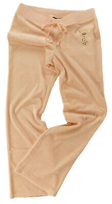 Juicy Couture Del Rey Pant Jogging Bottoms Pink Floral Cameo Velour Flared Leg Ebay