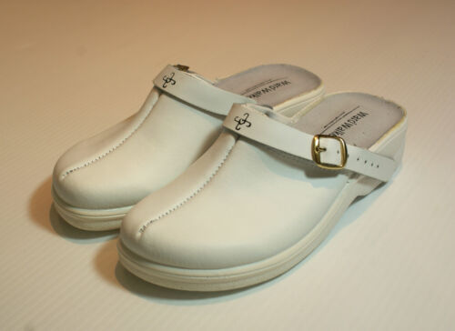 Real Leather Clog Shoes Hospital Comfort BNIB UK Size 4 EU 37 #175