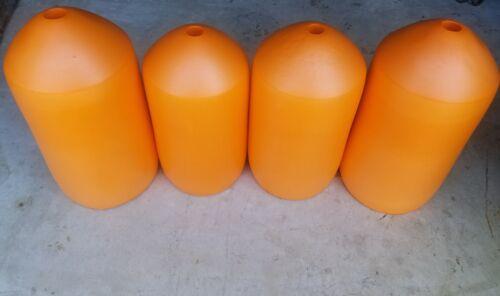 "FOUR PACK ORANGE Commercial Grade Crab Pot /& Trap Buoys 7/"" x 14/"" Bullet Floats"