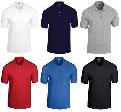Mens Polo Shirt Gildan Plain T Shirt Blank Short Sleeve Shirt NEW Lot GD017