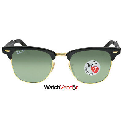 Ray Ban Clubmaster Polarized Green Classic Sunglasses RB3507 136/N5 51-21
