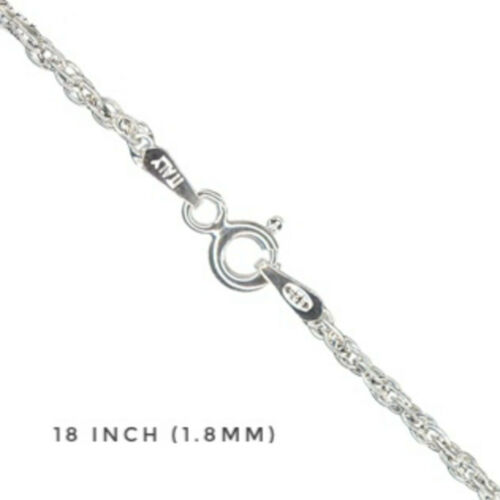 """925 Sterling Silver PRINCE OF WALES 18/"""" inch inches CHAIN Necklace 16/"""" rope"""