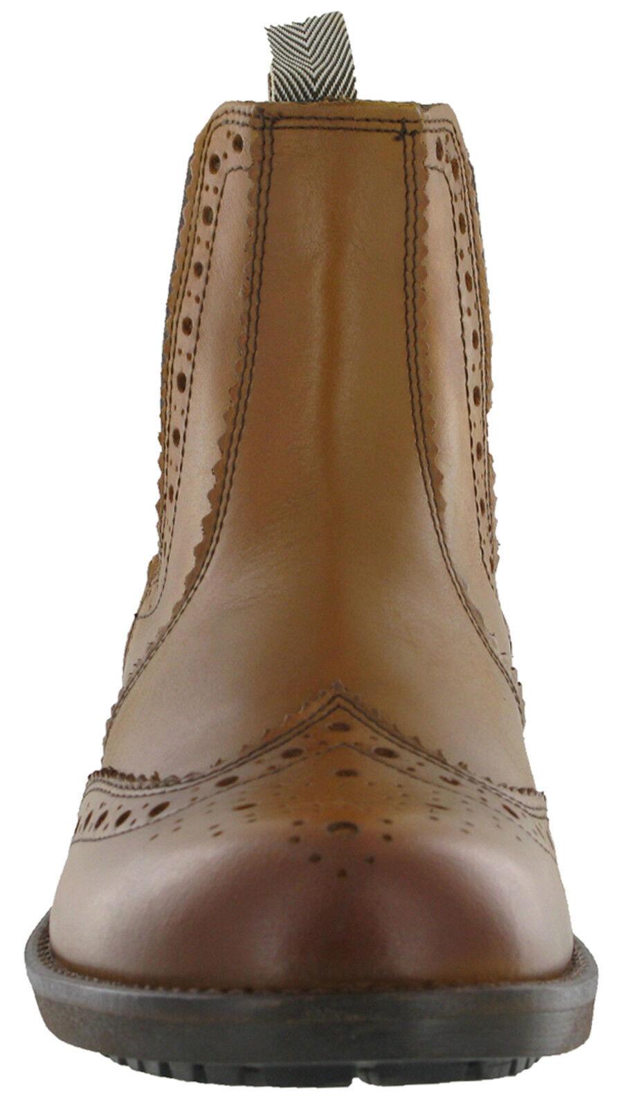 Roamers Distributeur Distributeur Distributeur Chaussures Richelieu Élastique Cheville Cuir Homme Coussin | Insolite  0c0725