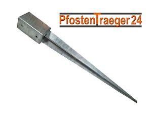 Einschlag-Bodenhülse Pfostenhalter Stahl verzinkt Höhe:600mm versch Durchmesser