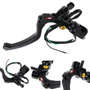 Black-CNC-Aluminum-Clutch-Lever-with-Switch-For-7-8-034-22mm-Motorcycle-Handlebar