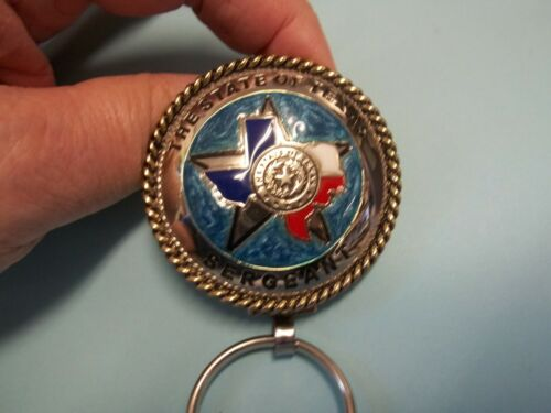 2# STATE OF TEXAS WITH SERGEANT IN BLACKAT BOTTOM OF KEY RING