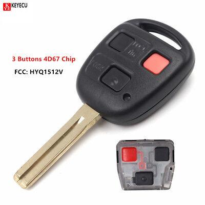 Lexus Key Fob Replacement >> New Uncut Remote Key Fob &4D67 Chip for Lexus GX470 LX470 ...