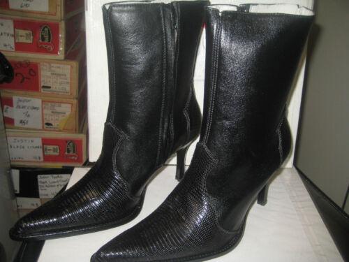 Lizard Slim Ring Laarzen Western Altos Gordeldier 360605 Zwart Inspired Heel Los wPTqgz