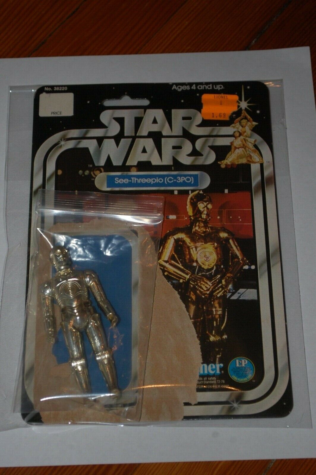 C-3PO-Loose-Star Wars-A New Hope-Vintage-With 12 Back Card