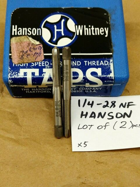 """3 1//4/"""" NF 28 Tap 1//4-28 Alloy Taps Right Hand Thread tool USA Lot of"""
