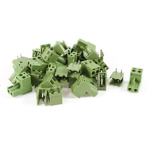 20 Pcs AC 300V 10A 5.08mm Pitch 2 Pin Screw Pluggable Terminal Block LW