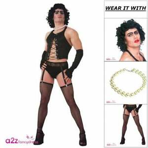 Mens Frank /'n/' Furter Costume Rocky Horror Picture Show 80s Stag Fancy Dress