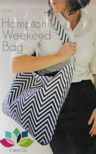 V and Co simple and stylish bag PATTERN PATTERN Hampton Weekend bag