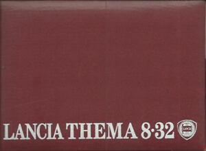 LANCIA-THEMA-8-32-Betriebsanleitung-1987-Bedienungsanleitung-Handbuch-BA