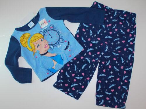 Nachtwäsche~NEU~USA~Disney~2 tlg Schlafanzug~92-98~Fleece~Pyjama~Prinzessin