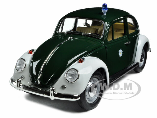 1967 VOLKSWAGEN BEETLE KAFER GERMANY POLICE CAR 1 18 MODEL GREENLIGHT 71101
