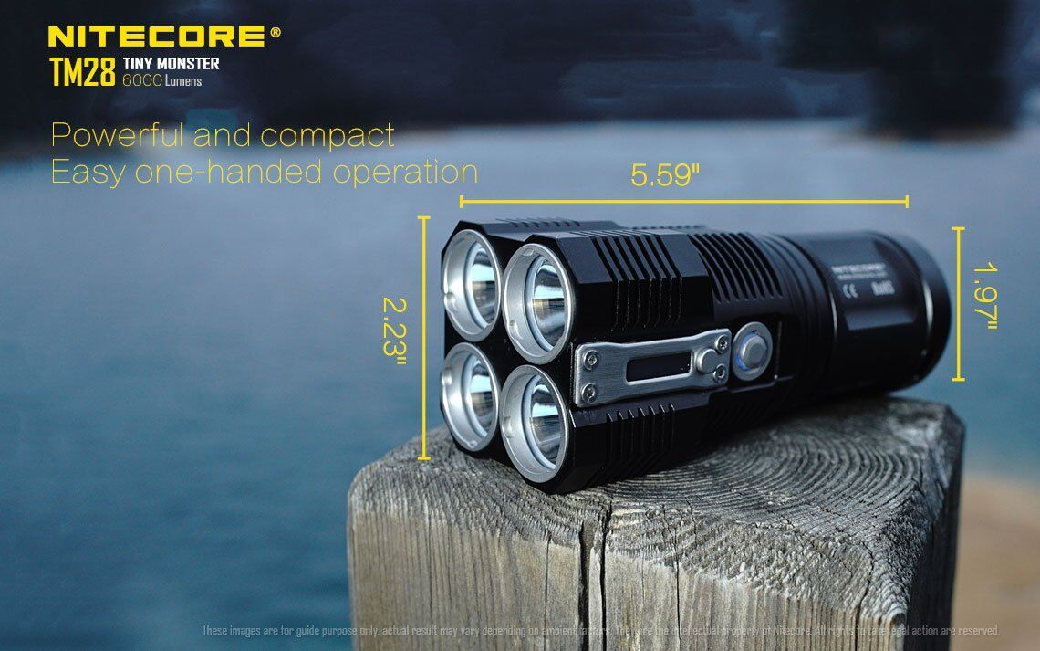 Nitecore Rechargeable TM28 Rechargeable Flashlight w/Nitecore NU20 Rechargeable Nitecore Headlamp 1d510f