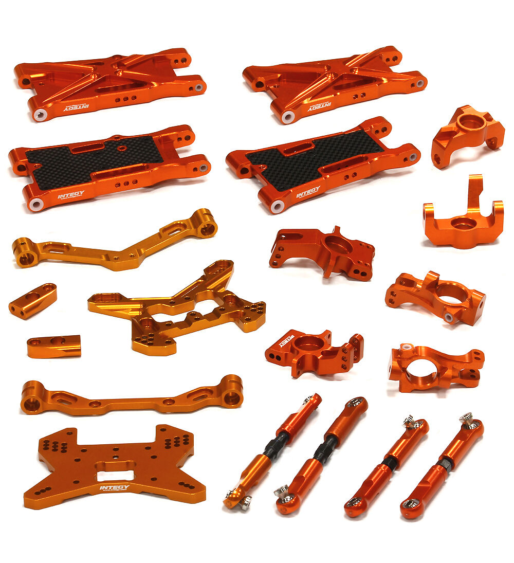 C24854Orange integy quartier bearbeitet suspension kit fr hpi 1   8 - sc flux
