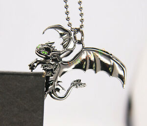How to train your dragon 2 toothless night fury animal necklace image is loading how to train your dragon 2 toothless night aloadofball Image collections