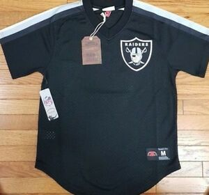 Details about NEW MITCHELL & NESS Oakland Raiders Black MESH V Neck JERSEY NFL