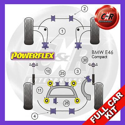 BMW E46 3 Series Compact 99-06 60mm Front Wishbone Rear Bush Powerflex Full Kit