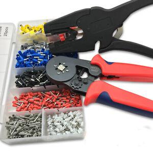 1200Pcs Wire Terminal Connector Crimp Crimper Tool Bootlace Ferrule Plier Sets