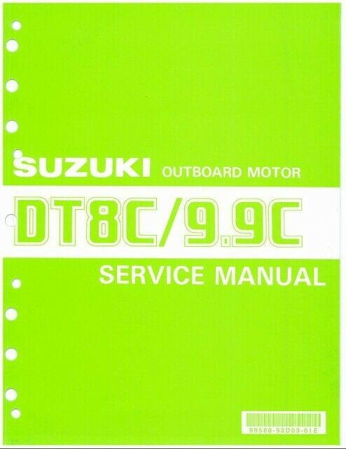 88-92 Suzuki DT8C DT9.9C 2-Stroke Outboard Motor Service Manual CD DT8 DT9.9 8