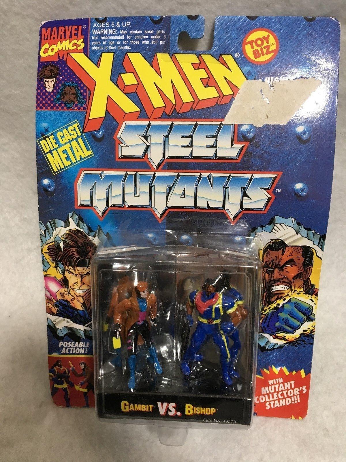 ToyBiz Die Cast Metal X-Men Steel Mutants Gambit VS Bishop Japan