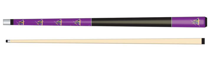 NRL Pool Billiard Snooker Juniour Cue 52  Flashes On Impact - Melbourne Storm