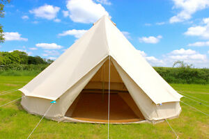 Image is loading 100-Cotton-Canvas-Teepee-Tipi-Bell-Tent-Large- : tee pee tent - memphite.com