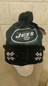 d3403fc7c7e733 NFL NEW YORK JETS Big Logo Light Up Printed Beanie Winter Hat Toque ...
