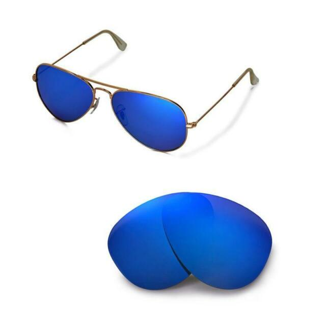 New WL Polarized Ice Blue Lenses For Ray-Ban Aviator Large Metal RB3025 58mm d6295dae2b68