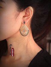 Boucles d`Oreilles Clous Ethnic Mini Perle Rose Creux Boheme Baroque BB 6