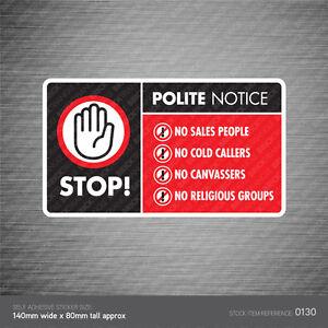 Stop-cold-calling-porte-autocollant-de-groupes-religieux-non-Canvassers-callers-signe