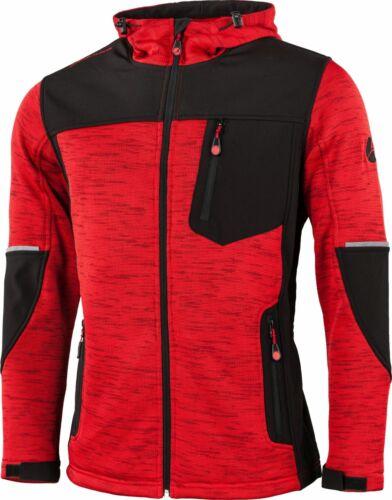 Albatros cuerda //Softshell chaqueta Darby con capucha y stretchfutter rojo