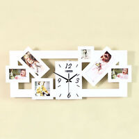 Home Wall Clock Decor Art Photo Frame Modern Family Quartz Time Picture Diy