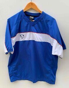 NIKE-DRI-FIT-SOCCER-FOOTBALL-retro-blue-lightweight-short-sleeve-top-size-M