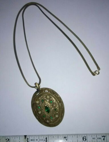Antique Square Snake chain Necklace And Pendant