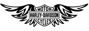 Harley Davidson wings logo Vinyl Decal