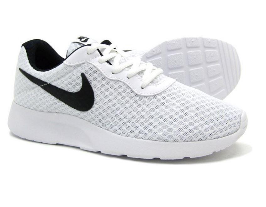 Nike Tanjun Men's Running Casual shoes  White Black 812654 101  Fast shipping K