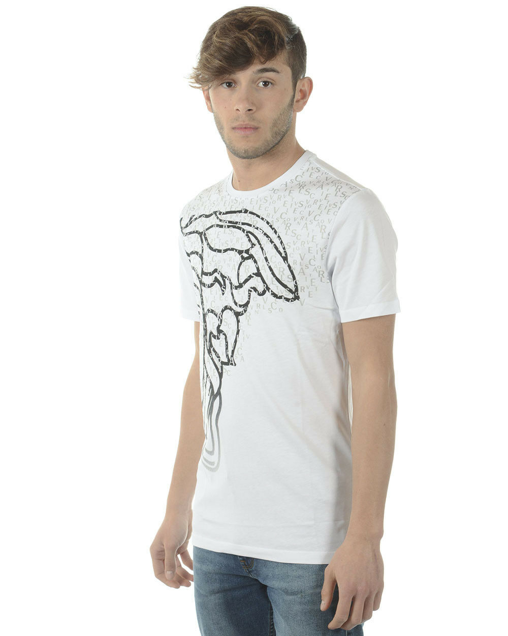 T shirt V800683SVJ00353 Versace Collection Sweatshirt Cotone Uomo Bianco V800683SVJ00353 shirt V7001 a8076b
