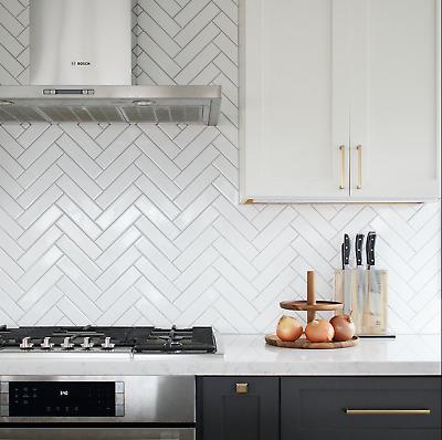 Tile Samples Brooklyn Brick Flat Gloss White Metro Wall Tiles 7 5 X 30cm Ebay