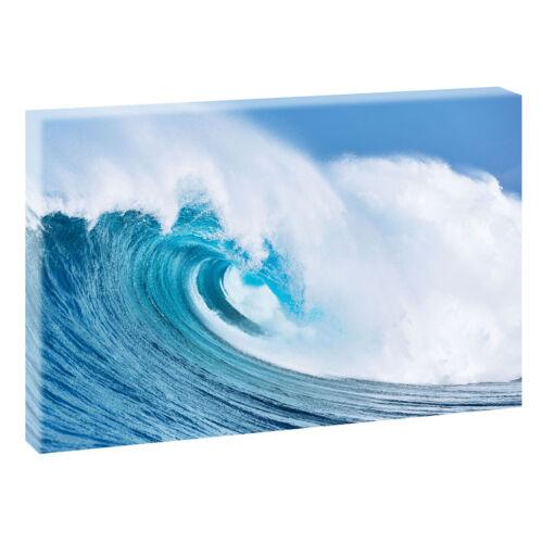 Welle Bild Meer Natur Leinwand Modern Design Poster Wandbild 120 cm*80 cm 637
