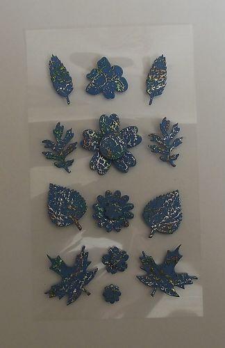 BLUE LEAF EMBELLISHMENT GREAT FOR CARDS