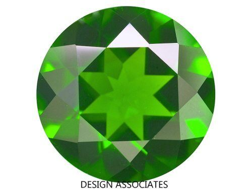 Russian Green Chrome Diopside Round Cut 6 MM