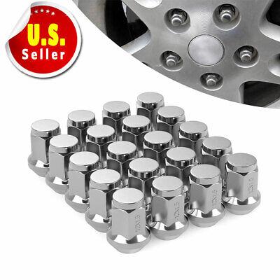 M12X1.5 Wheel Lock Lug Nuts Set Closed Bulge Acorn Key Fit Acura Honda Chevrolet