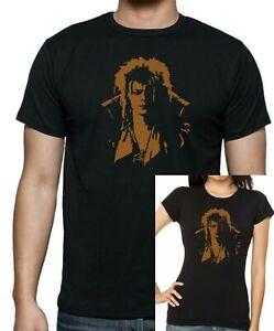 Damen-Fitted-Herren-Unisex-Labyrinth-Jareth-Goblin-King-David-Bowie-T-Shirt